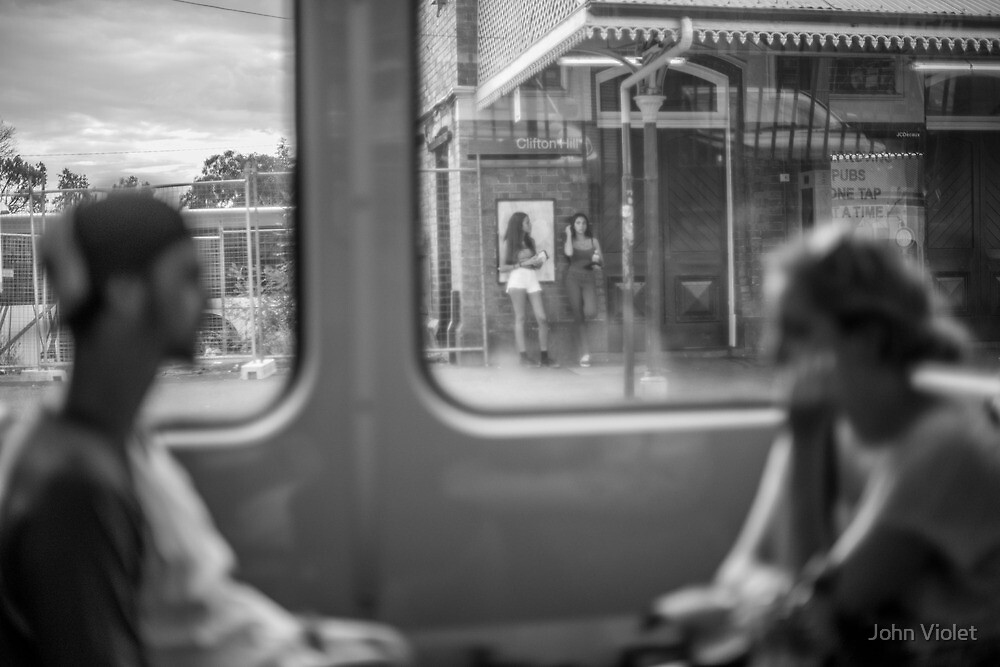 Melbourne Commuters by John Violet