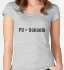 PC > Console Women's Fitted Scoop T-Shirt