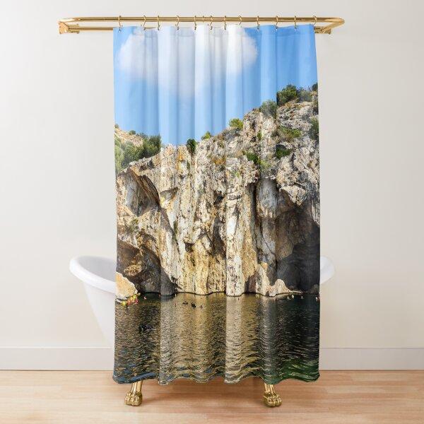 Lake Vouliagmeni, Athens, Varkiza, Greece Shower Curtain