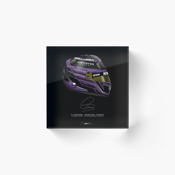 Lewis Hamilton - 2020 Black helmet Dark with Sig Acrylic Block