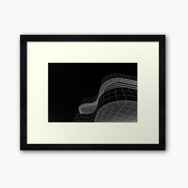 Getty Black and White Abstract number 2 Framed Art Print