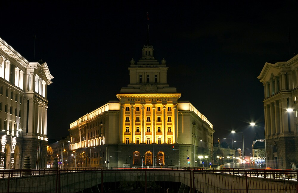 City Center of Sofia With Government and Business Buildings by kirilart