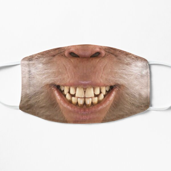 Harry Bigfoot Smiling Sasquatch face Flat Mask