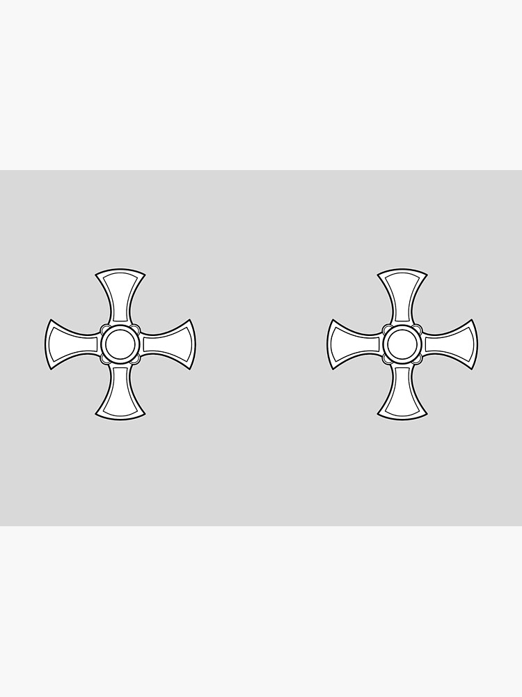 Cross of St Cuthbert. Black and white. by TOMSREDBUBBLE
