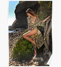 Sexy resort ware on location of CA coastline I Poster