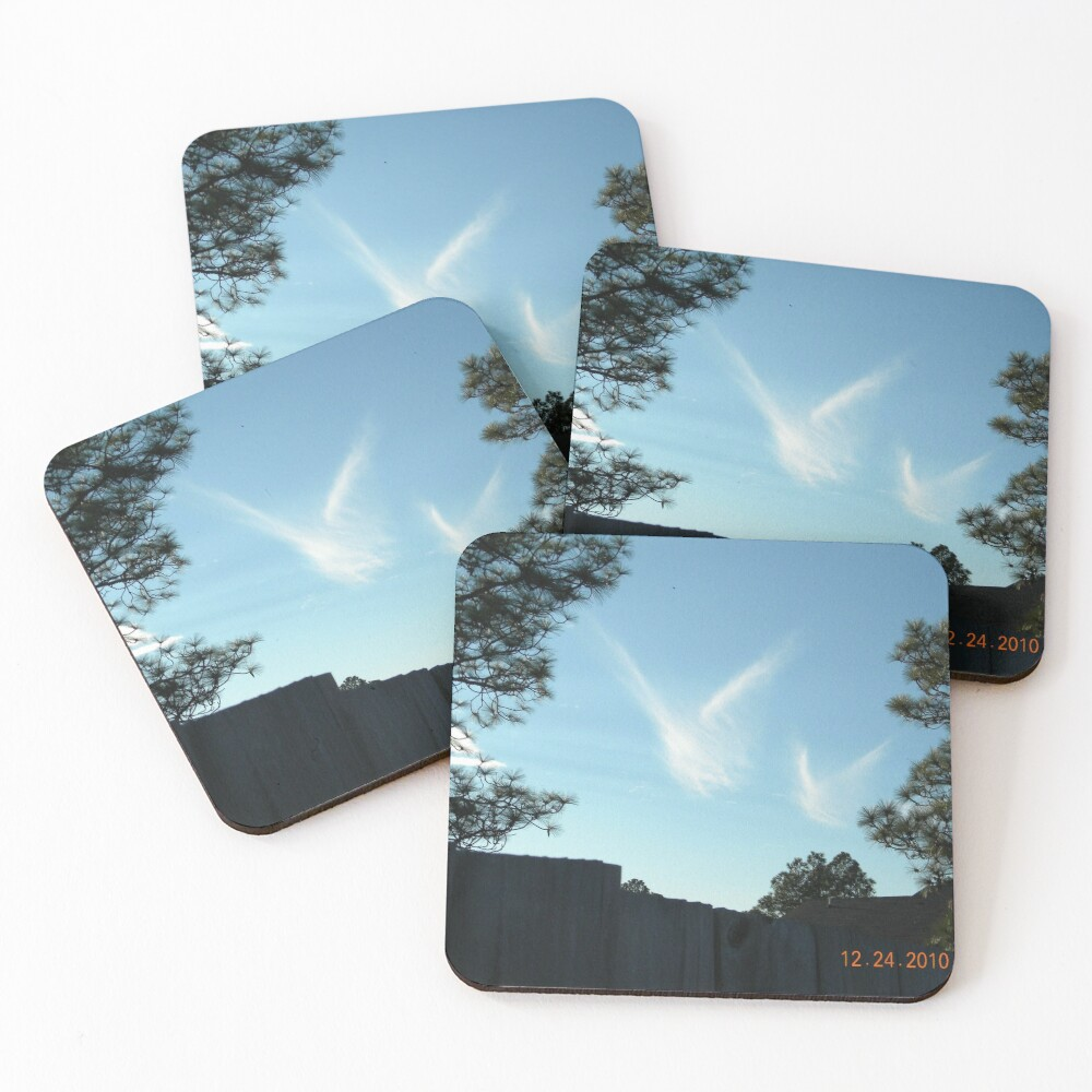 Christmas Eve Snow Angels  Coasters (Set of 4)