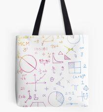 Math formulae (white) Tote Bag