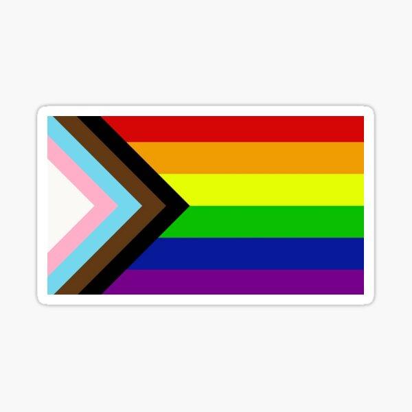 Progress Pride Flag Decal LGBTQAA  Sticker
