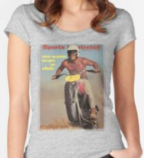 Steve McQueen - Magazine Cover Women's Fitted Scoop T-Shirt