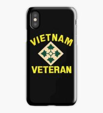 4th Infantry Vietnam Veteran iPhone Case/Skin
