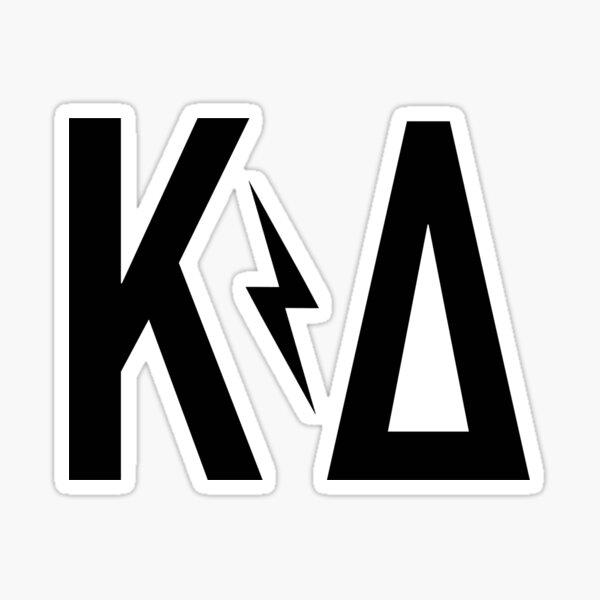KD bolt - Greek letters Sticker