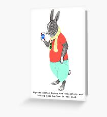 Hipster Easter Rabbit Greeting Card