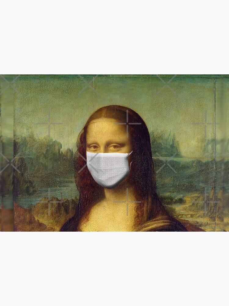 Mona Lisa Face Mask for Renaissance Art Lovers - Coronavirus Face Masks by ravishdesigns