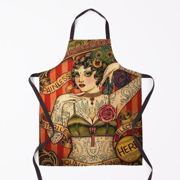 CHAPEL TATTOO; Vintage Body Advertising Art Apron