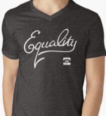 Equality - White Men's V-Neck T-Shirt