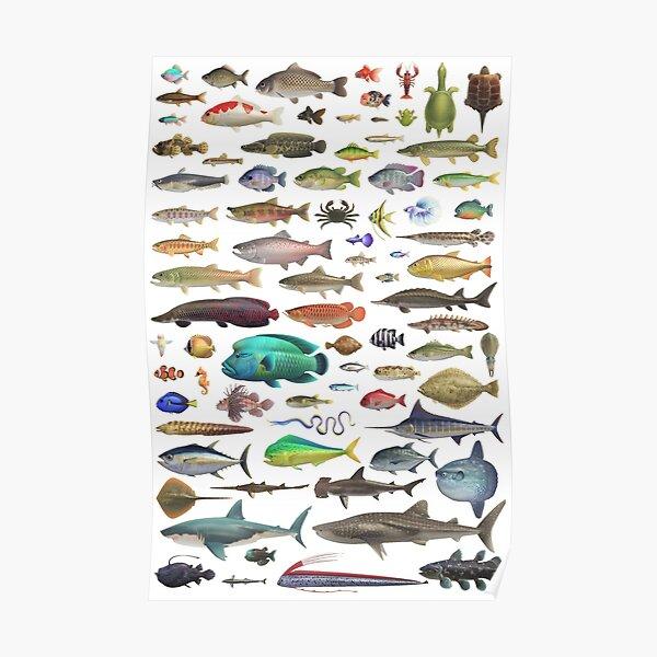 ALL FISH N STUFF Critterpedia Poster