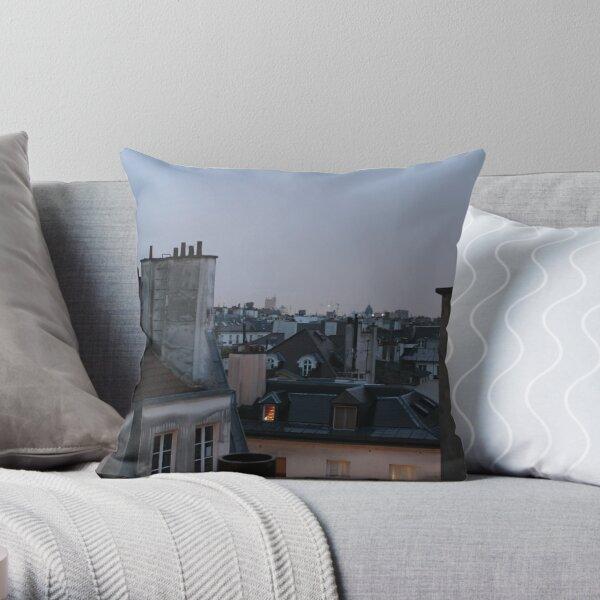 Parisian rooftops Throw Pillow