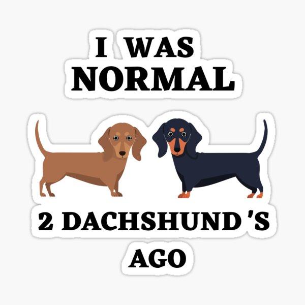 Ich war vor 2 Dackeln normal Sticker