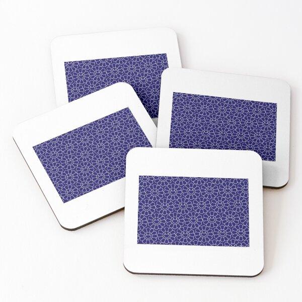 TAKASHI MURAKAMI HAPPY FLOWER (BLUE) Coasters (Set of 4)