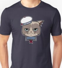Stay Grumpy The Marshmallow Cat Unisex T-Shirt