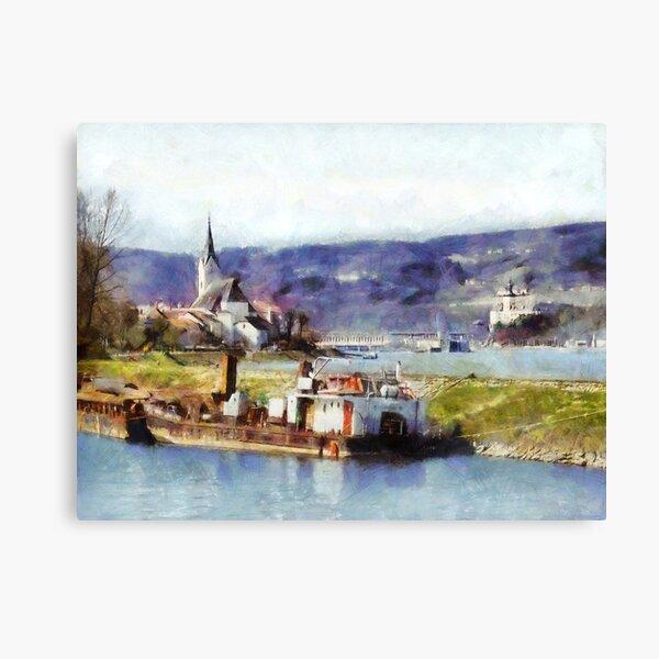 Ybbs an der Donau Harbour Canvas Print