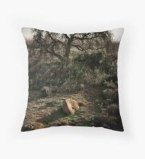 Angry Tree Throw Pillow