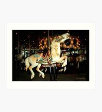 Beautiful Horse on the Carousel Art Print