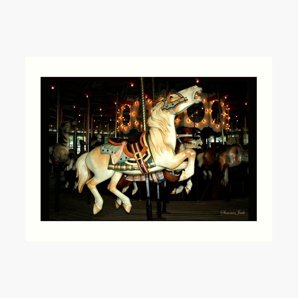 Beautiful Horse on the Carousel Art Print