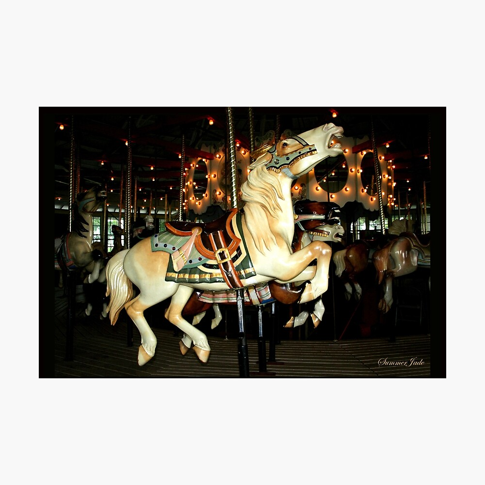 Beautiful Horse on the Carousel Photographic Print