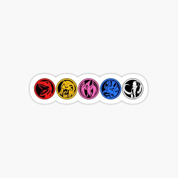 Five Power Coins Sticker
