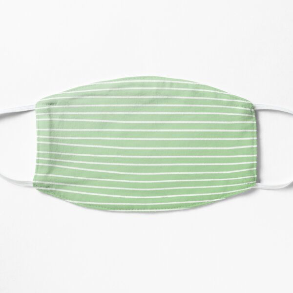 Simple Basil Green Stripes Mask