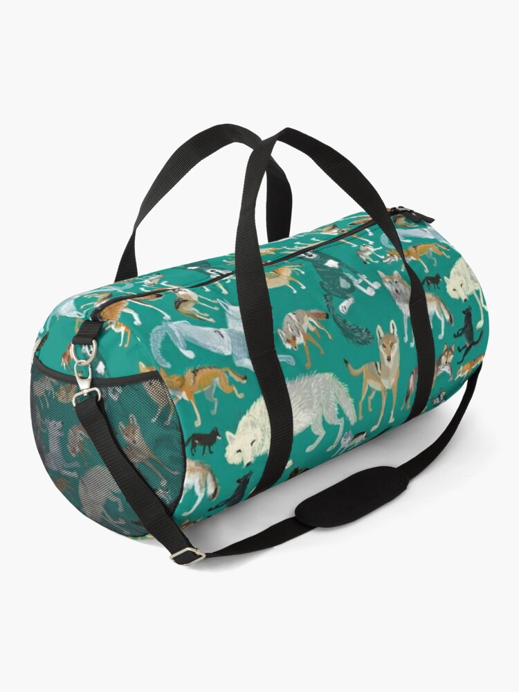 Alternate view of Wolves of the World (Green pattern) Duffle Bag