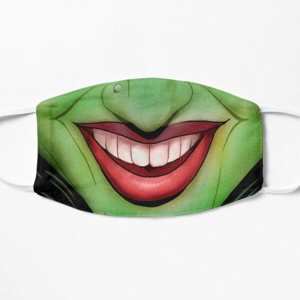 Wicked Witch Face Mask Flat Mask