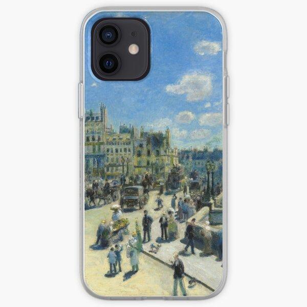 Pont Neuf, Paris, by Auguste Renoir iPhone Soft Case