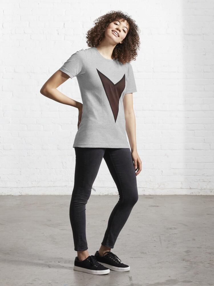 """Alternate view of """"V"""" Shaped Logo Essential T-Shirt"""