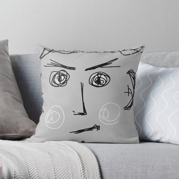 Grey Kelly Throw Pillow