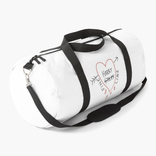 Album Music Styles Fine Line White Text - Red Heart Duffle Bag