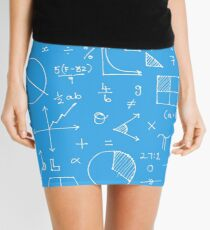 Math formulae (blue) Mini Skirt