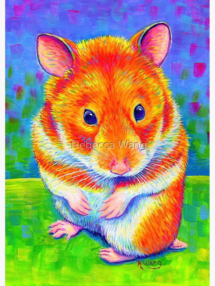 Colorful Rainbow Golden Hamster by lioncrusher