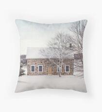 little stone house Throw Pillow