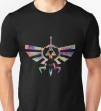 The Legend of Zelda - Hyrule Crest + Master Sword // Water Color Edition Unisex T-Shirt