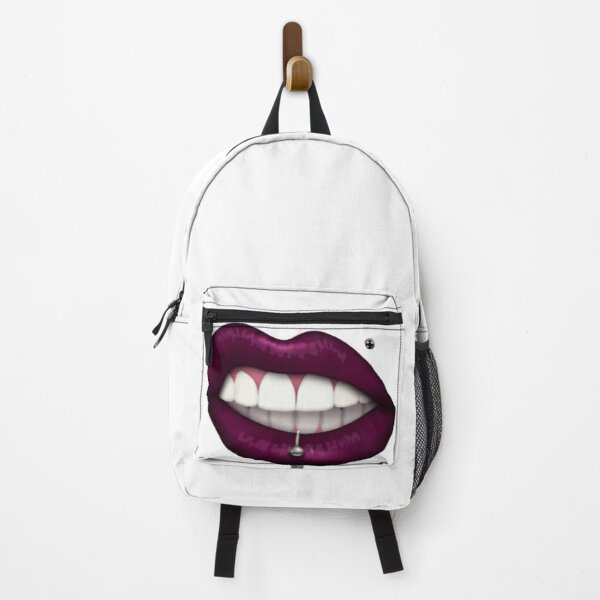 Red mouth pattern with a piercing Backpack