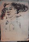 Female Nude II -(290313)- A5 sketchpad/Black Ink Pen by paulramnora
