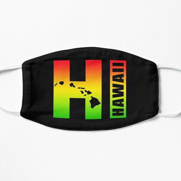 Hawaii HI in Rasta Colors Flat Mask