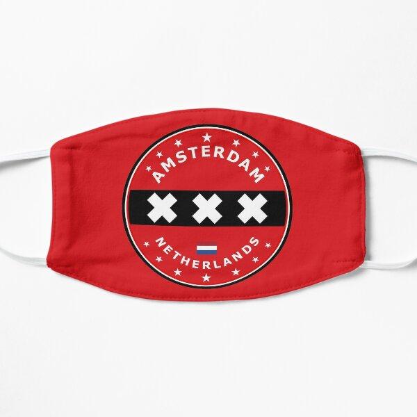 Amsterdam Flag, circle Flat Mask