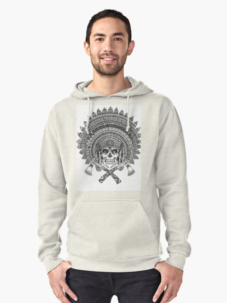 Chief Skull Pullover Hoodie Front