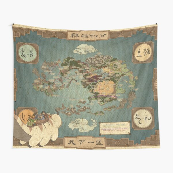 avatar the last airbender map I Tapestry