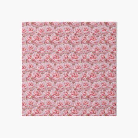 Duggins Castle Cottage Rose, Pale Pink Flowers  Art Board Print