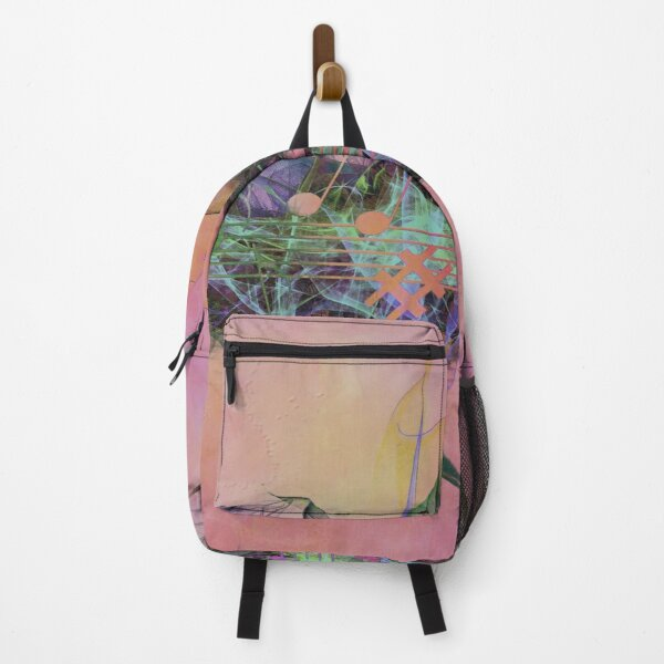 Music Wave Pink Hue Backpack