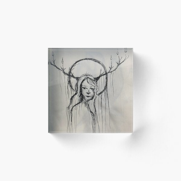Reluctant Forest Queen Acrylic Block